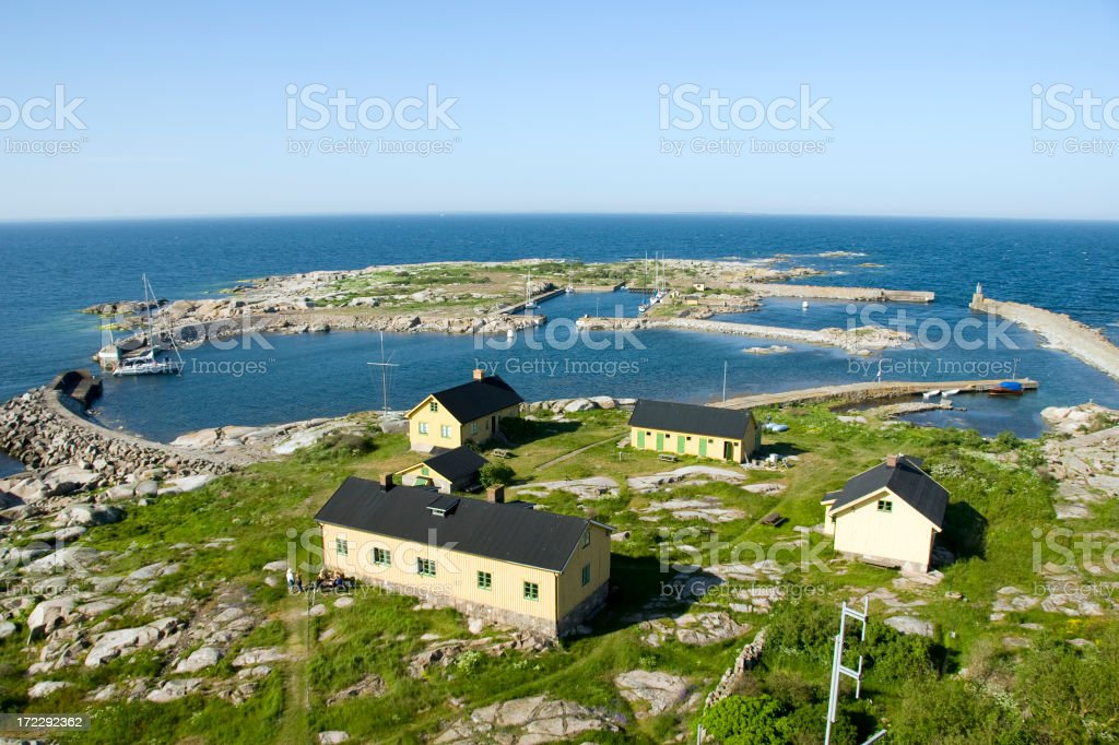lighthouse keepers house stock photo