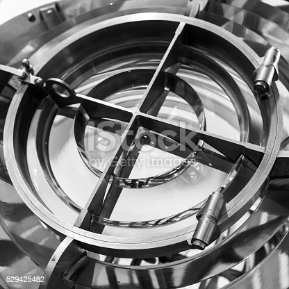 172424642 istock photo Lighthouse lamp with glass rings, monochrome 529425482