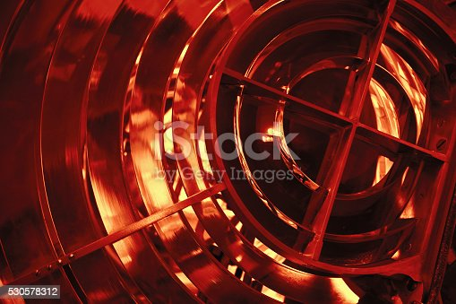172424642 istock photo Lighthouse lamp with lens made of glass rings 530578312
