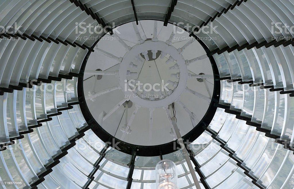 Lighthouse lens royalty-free stock photo