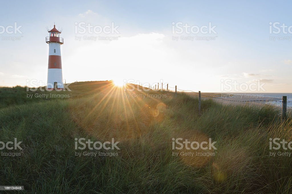 Lighthouse List East royalty-free stock photo