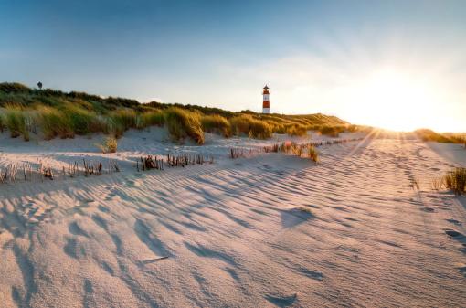 Lighthouse List East with Sunbeams