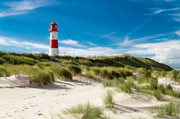 lighthouse list - sand dune stock photos and pictures