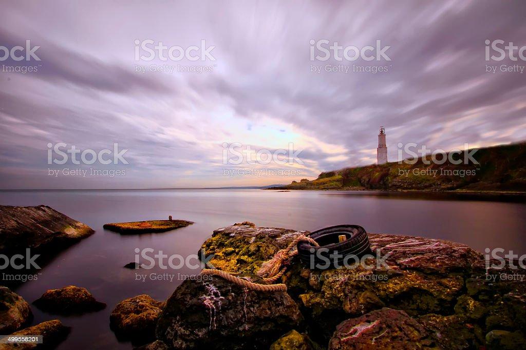 lighthouse Long exposre stock photo