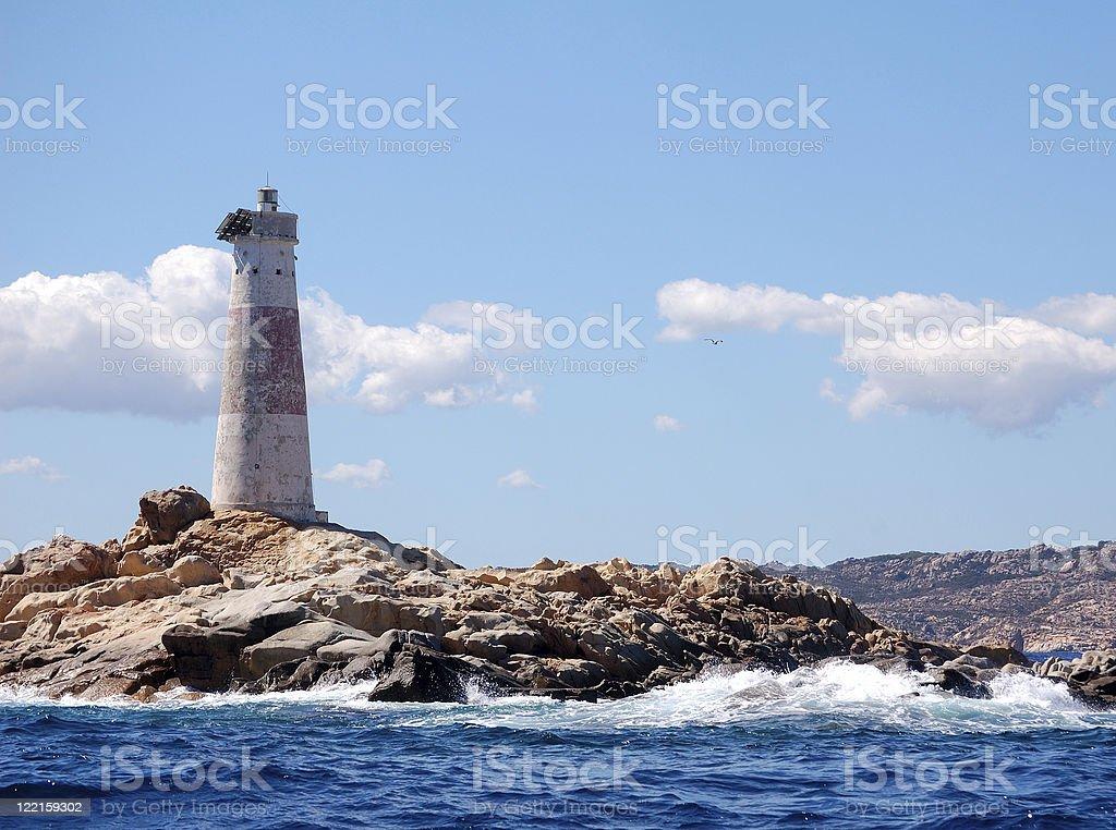 Lighthouse Monaci stock photo