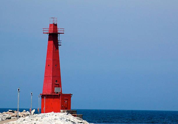 Lighthouse , Muskegon, Michigan stock photo