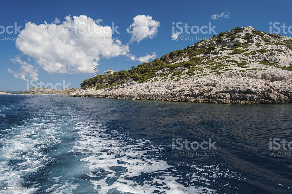 Lighthouse National Park Kornati, Croatia royalty-free stock photo