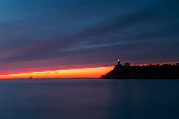 Lighthouse of Aviles stock photo