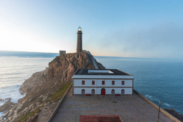 Lighthouse of Cabo Vilan (Camariñas, La Coruña - Spain). Camarinas, La Coruna - Spain. galicia stock pictures, royalty-free photos & images