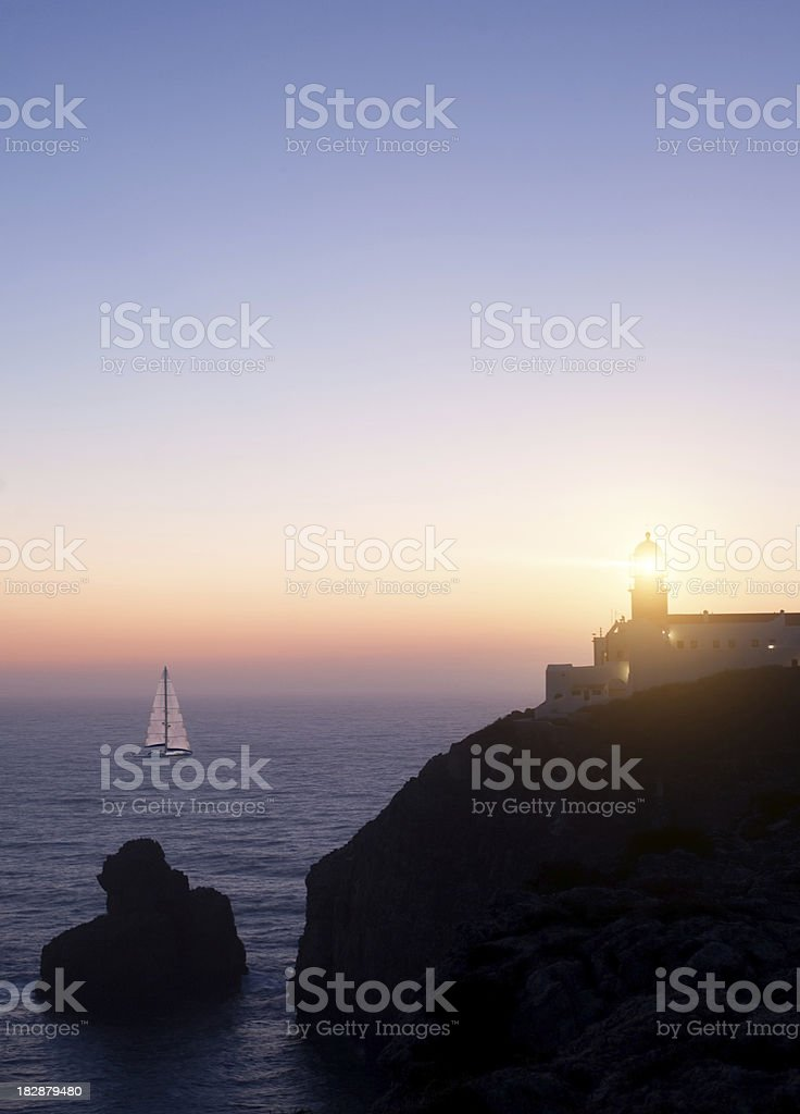 Lighthouse of Cape Saint-Vinsent, Portugal royalty-free stock photo