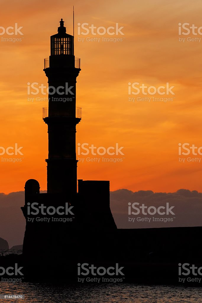 Lighthouse of Chania stock photo