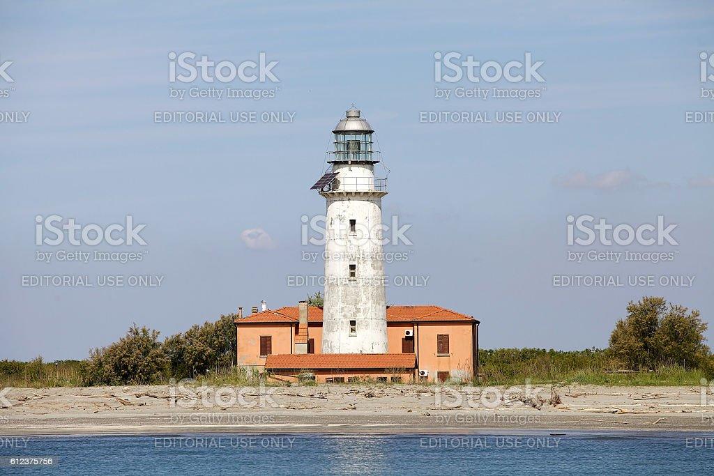 Lighthouse of Gorino stock photo