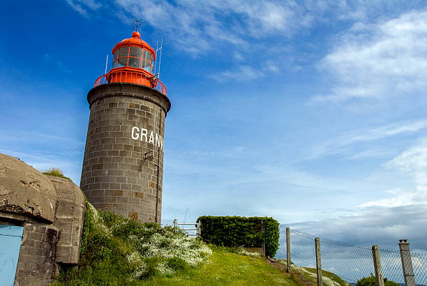 Lighthouse of Granville in France. Lighthouse of Granville, a commune in the Manche department in Lower Normandy in north-western France. manche stock pictures, royalty-free photos & images