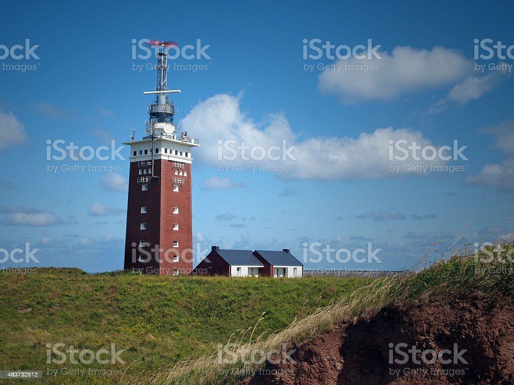 lighthouse of Heligoland stock photo