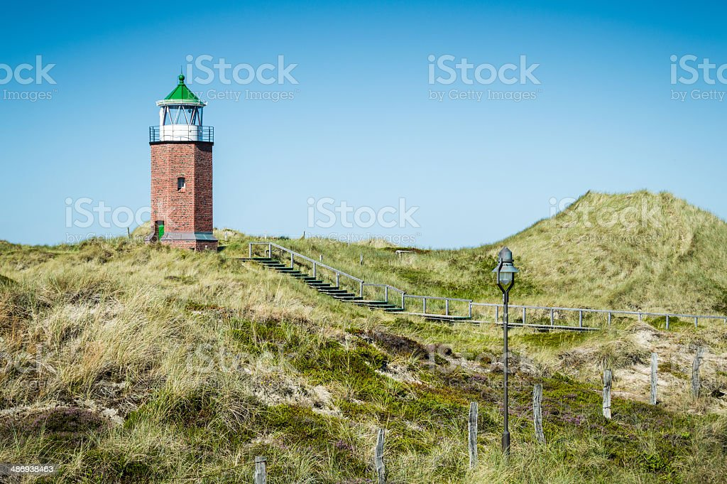 Lighthouse of Kampen Sylt royalty-free stock photo