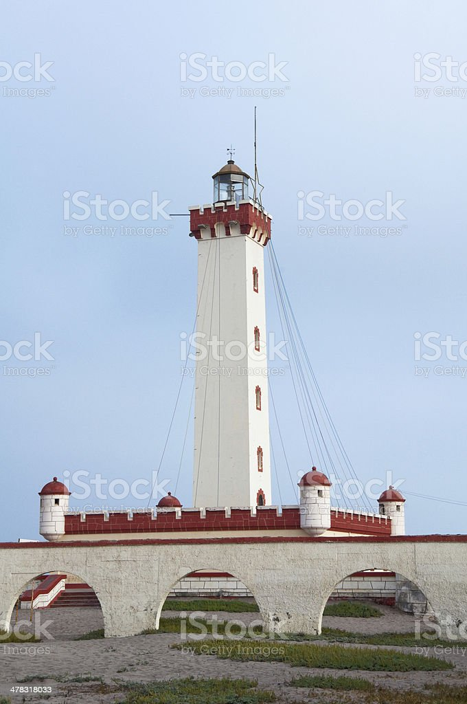 Lighthouse of La Serena, Chile stock photo