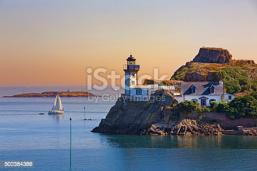 istock Lighthouse of L'Ile Louet, Brittany 502384386
