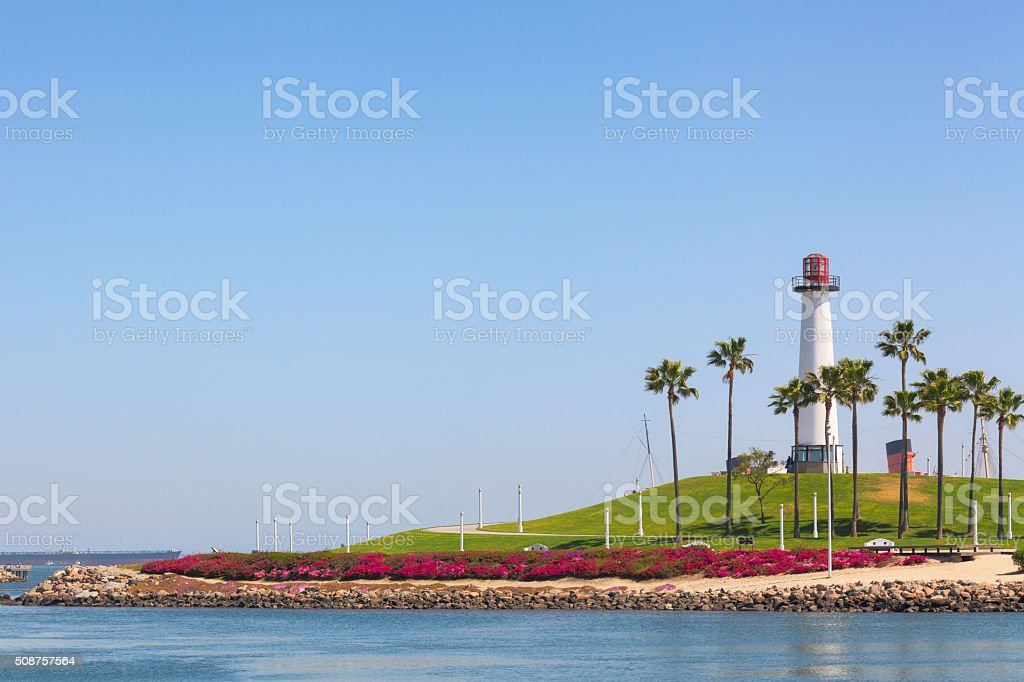 Lighthouse of Long Beach, California stock photo