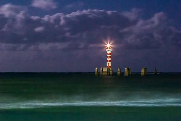 Lighthouse of Ponta Verde Beach under Moonlight - Maceió – Foto