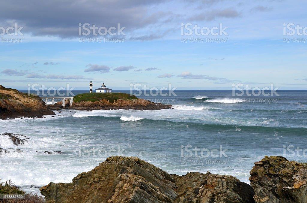 Lighthouse of Ribadeo, Spain stock photo