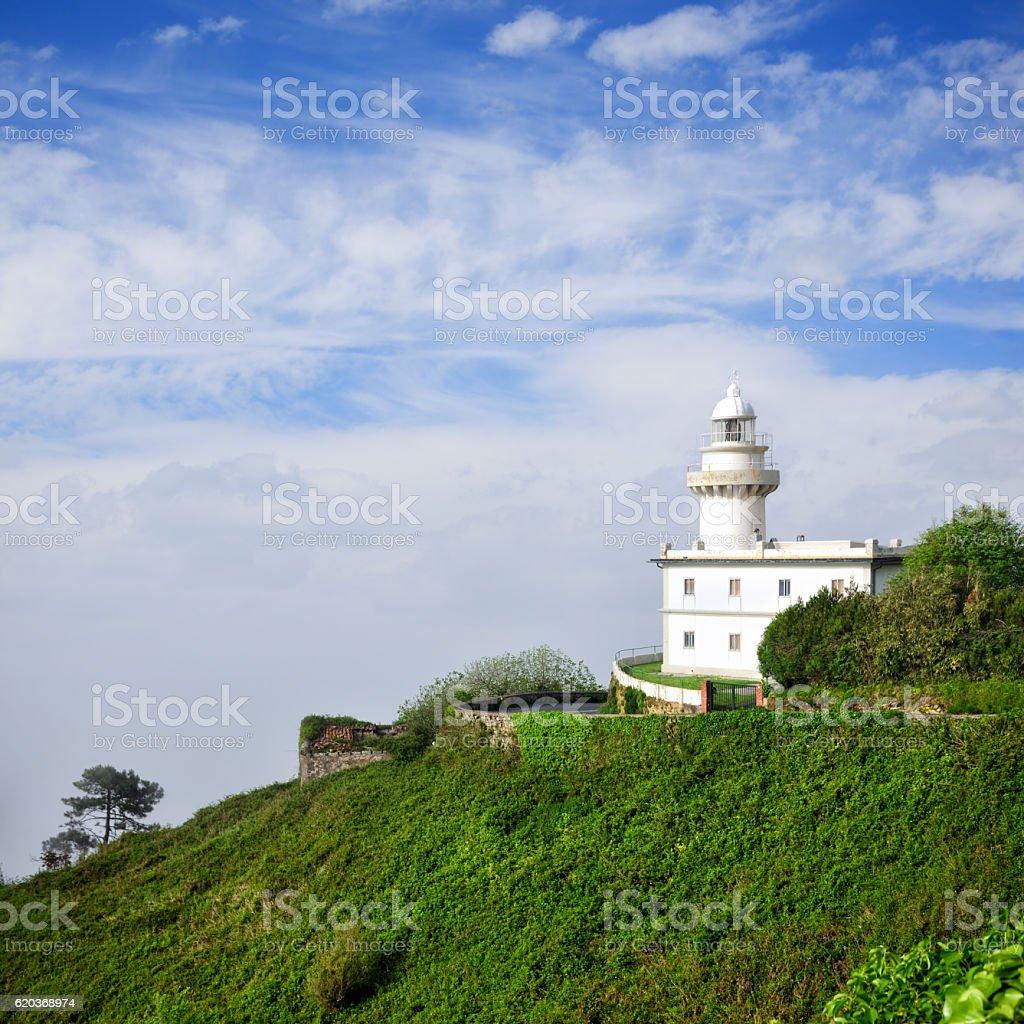 Lighthouse of San Sebastian zbiór zdjęć royalty-free