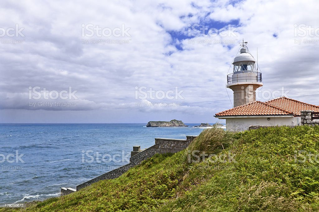 Lighthouse of Suances, Cantabria-Spain royalty-free stock photo