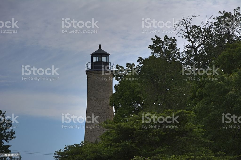 Lighthouse of the Great Lakes stock photo