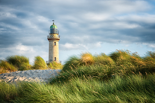 Lighthouse of Warnemuende in Rostock, Germany.