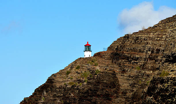 Lighthouse On A Cliff In Hawaii