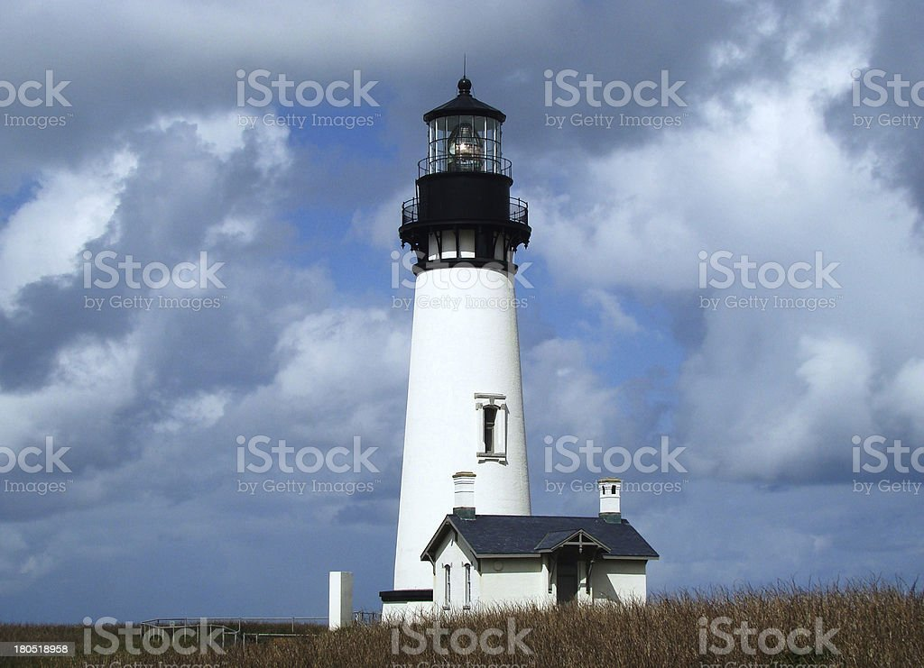 Lighthouse on a Cloudy Day stock photo