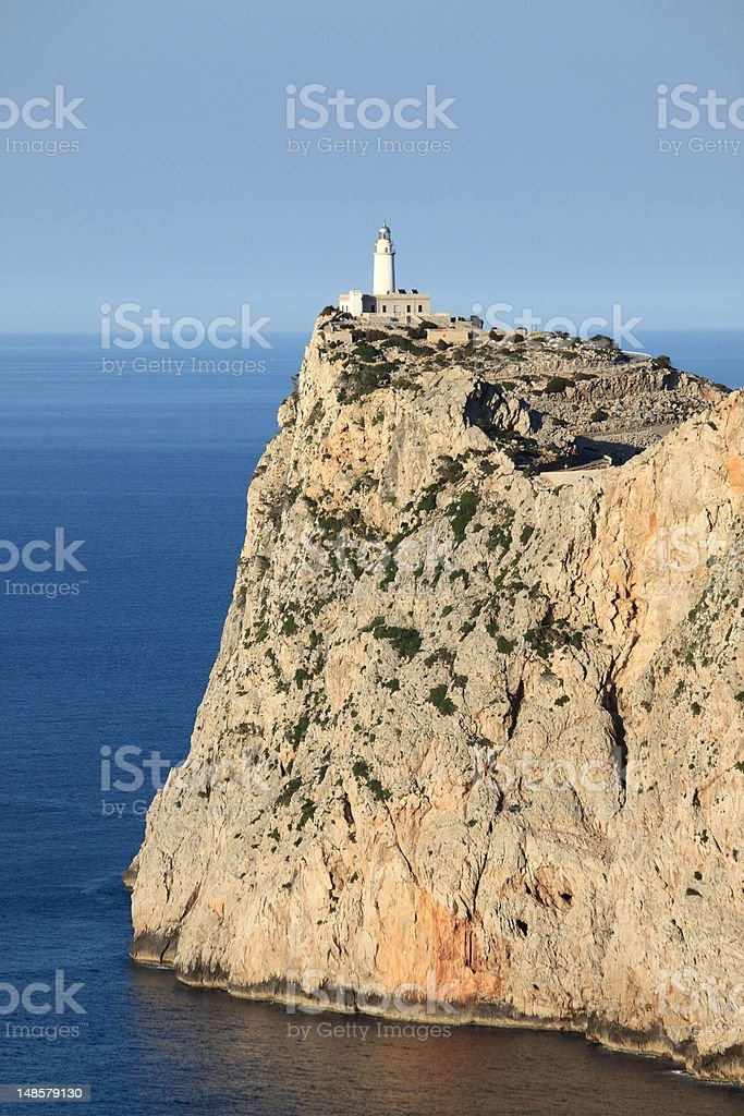 Lighthouse on Cap de Formentor stock photo