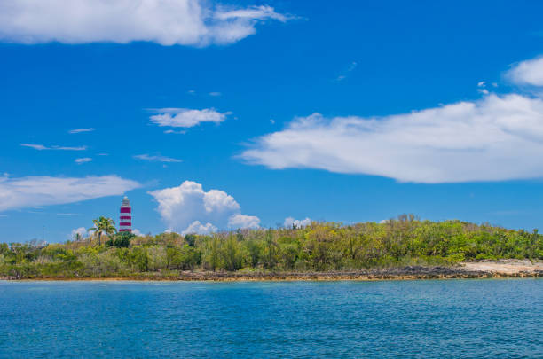 Lighthouse on Elbow Cay stock photo