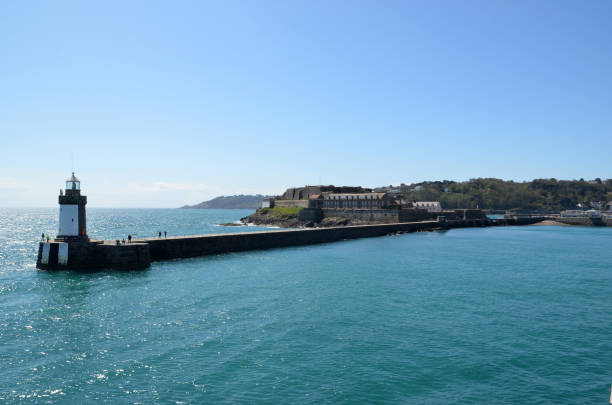 Lighthouse on Guernsey stock photo
