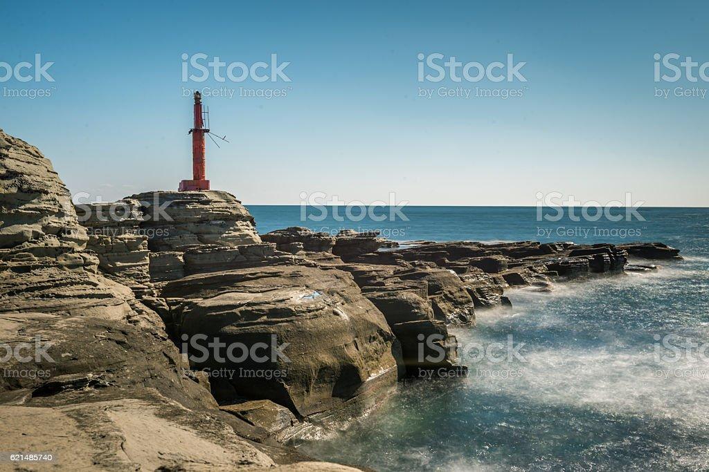 Lighthouse on sunny day Lizenzfreies stock-foto
