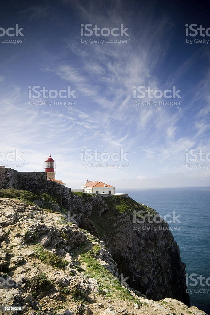Lighthouse on the cliffs royalty-free stock photo