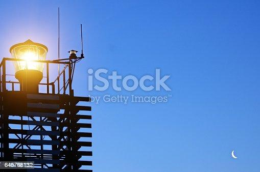istock Lighthouse on the coast of the Black Sea, Ukraine. 645768132