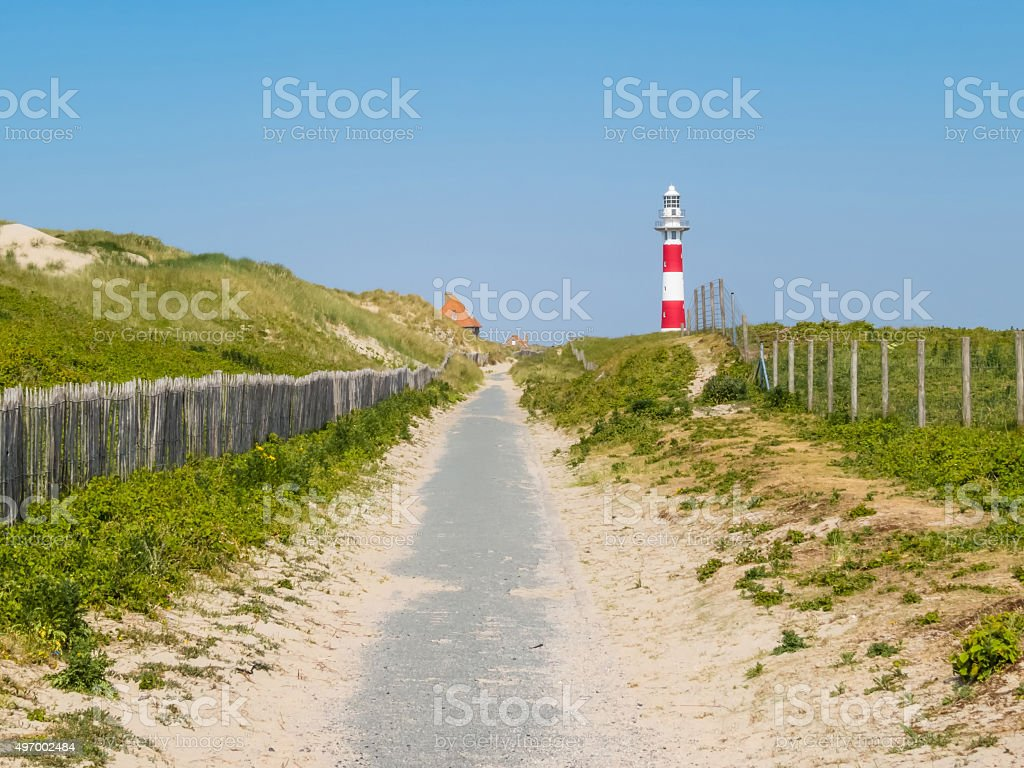 Lighthouse on the coast of the North Sea, Belgium foto
