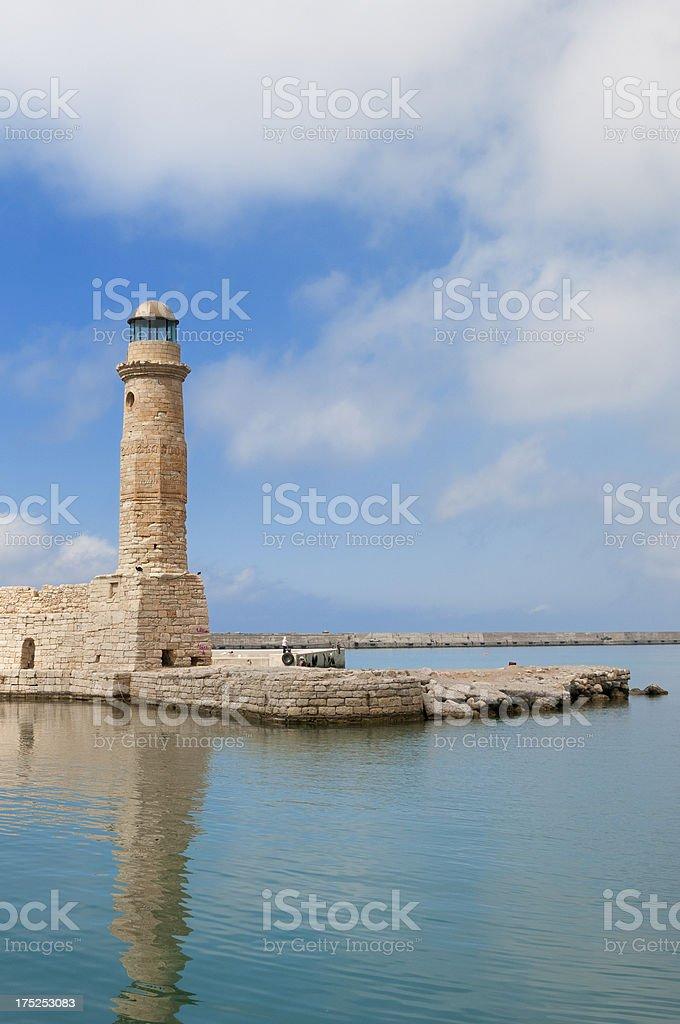 lighthouse on the Greek island Crete royalty-free stock photo