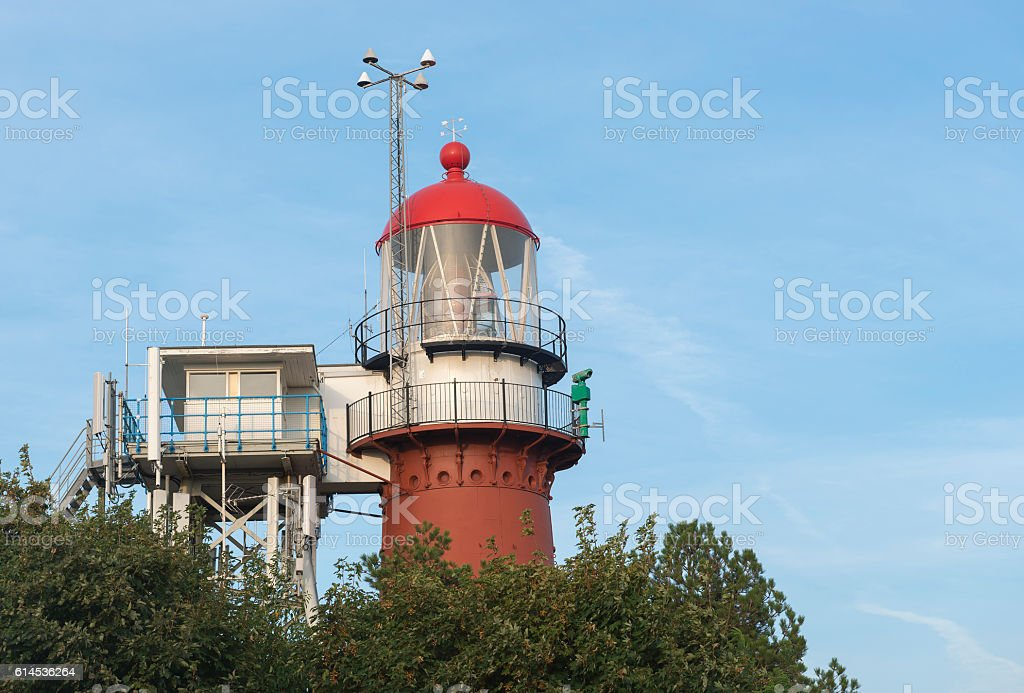 Lighthouse on the island of Vlieland  . stock photo