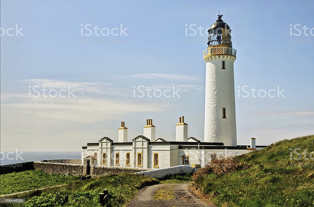 Lighthouse on the Mull of Galloway stock photo