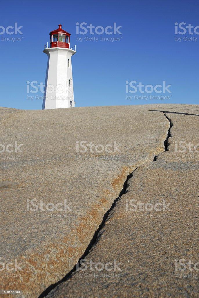 Lighthouse on the Rocks royalty-free stock photo