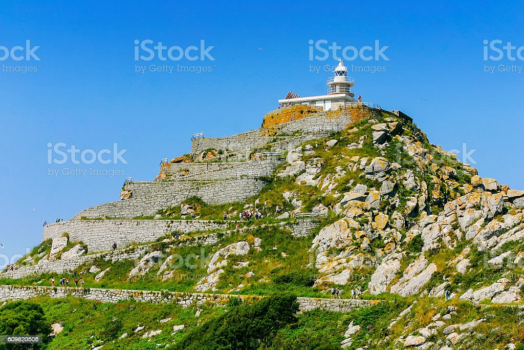 Lighthouse on top royalty-free stock photo