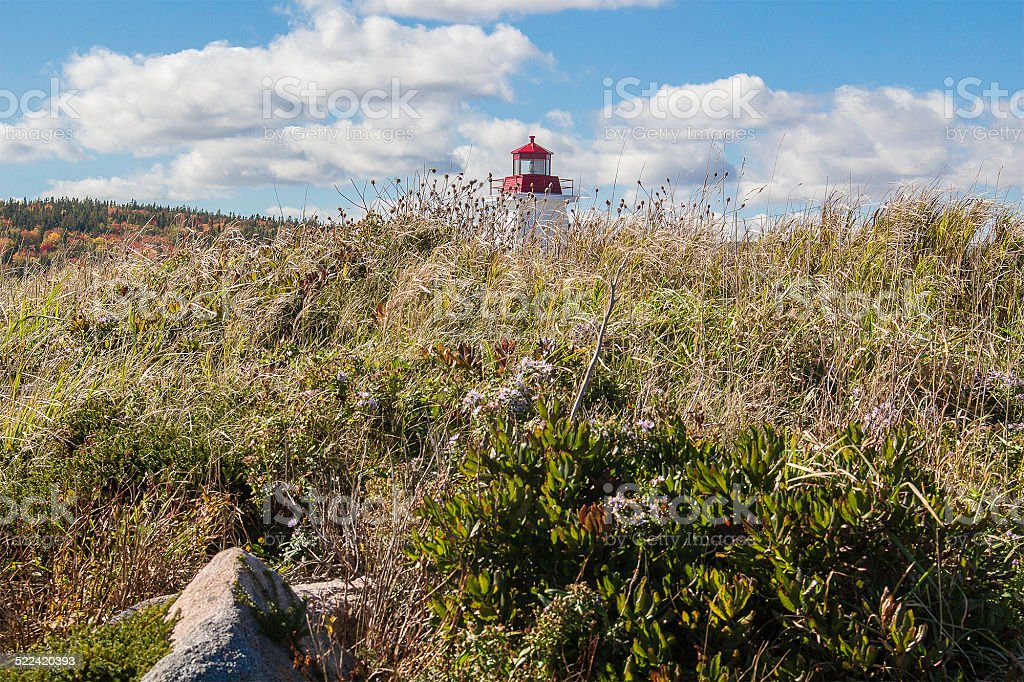 Lighthouse Peeking stock photo