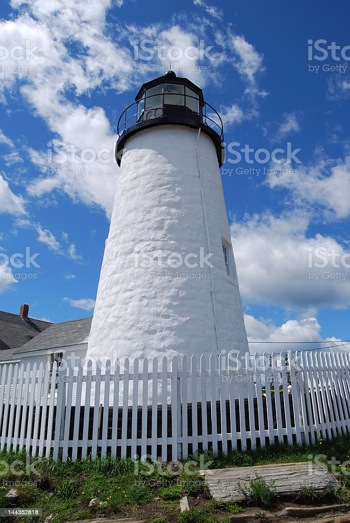 Lighthouse, Pemaquid Point royalty-free stock photo