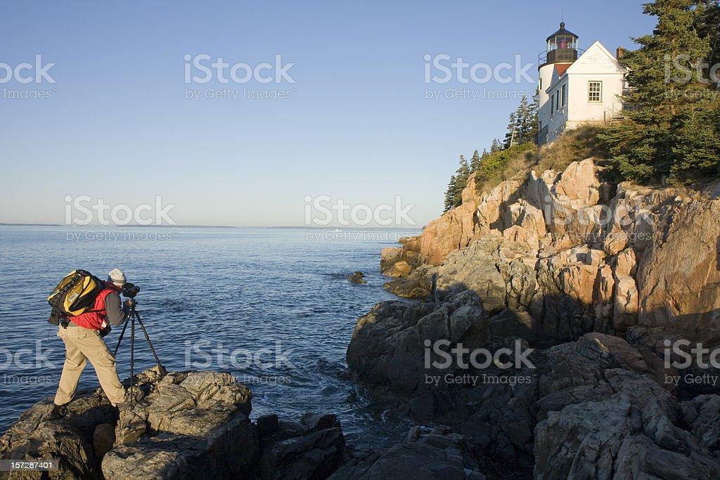 Lighthouse photographer stock photo