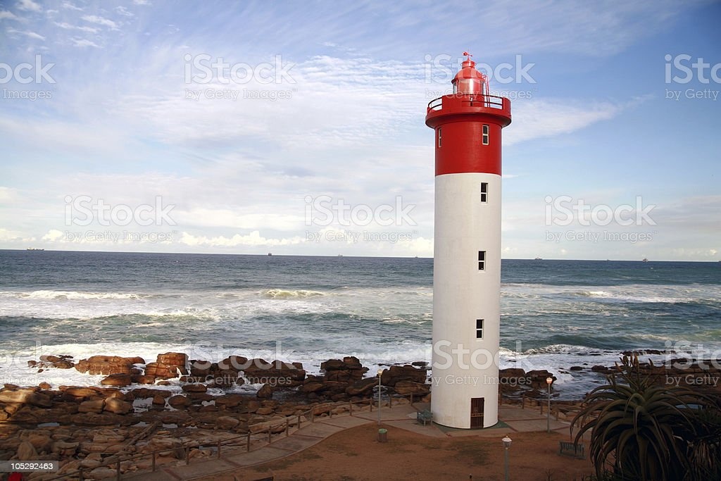 Lighthouse (Umhlanga; South Africa) stock photo