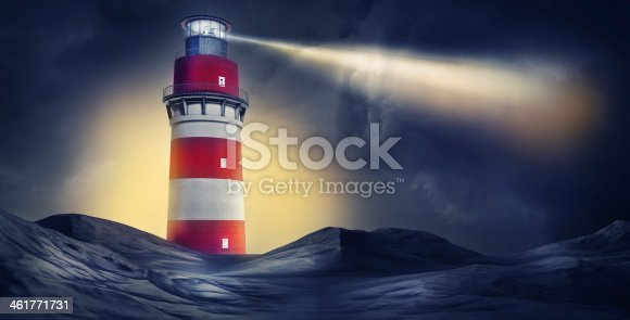 high resolution rendering of a lighthouse