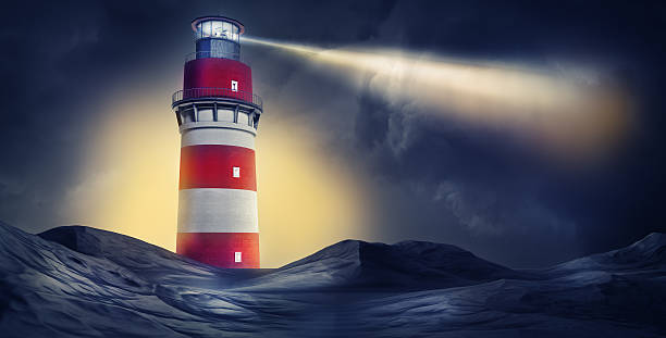 lighthouse high resolution rendering of a lighthouse beacon stock pictures, royalty-free photos & images