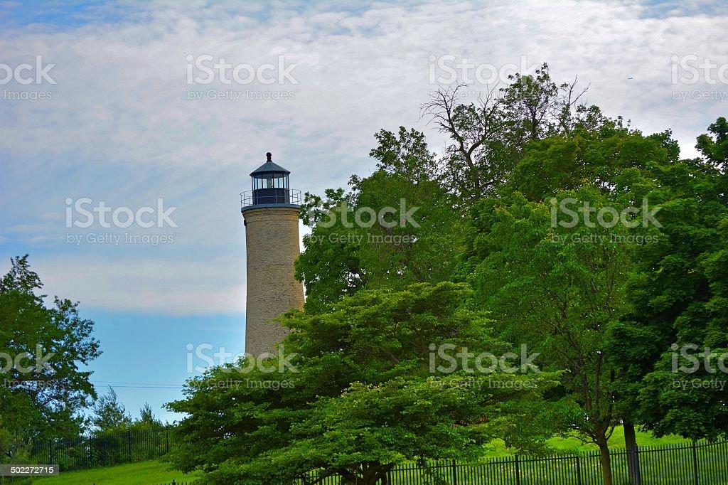 1866 Lighthouse stock photo