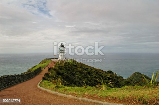 Lighthouse in Cape Reinga, northern New Zealand
